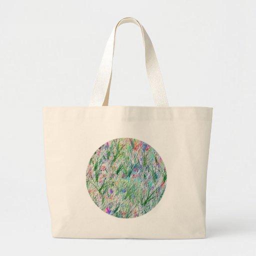Jardín mágico verde - plantilla adaptable bolsa de mano