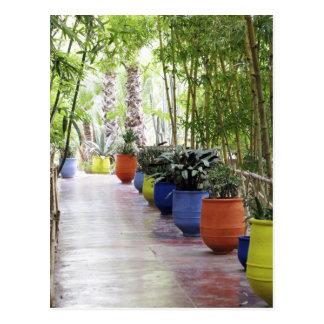 Jardin Majorelle, jardín de Majorelle, ahora un pú Tarjeta Postal