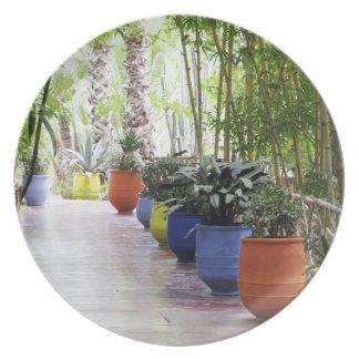 Jardin Majorelle, Majorelle Garden, now a public Melamine Plate