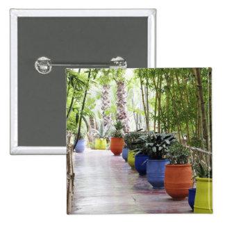 Jardin Majorelle, Majorelle Garden, now a public Pinback Button