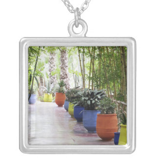 Jardin Majorelle, Majorelle Garden, now a public Silver Plated Necklace