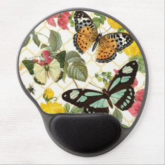 jardín moderno de la mariposa del vintage alfombrillas de ratón con gel