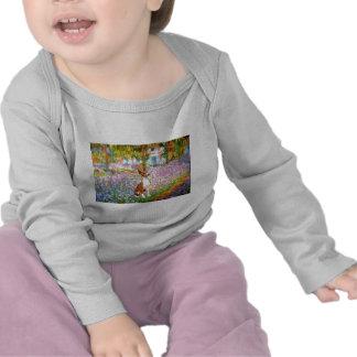 Jardín (Monet) - Basenji Camisetas