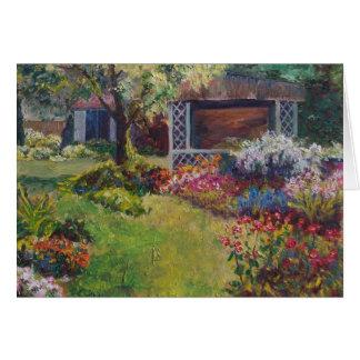 Jardín ocultado tarjeta de felicitación