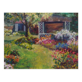 Jardín ocultado tarjeta postal