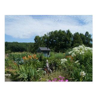 Jardín ocultado tarjetas postales