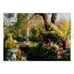 Jardín pacífico en Guernesey 1 Felicitaciones