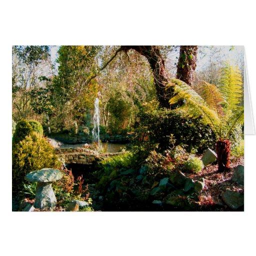 Jardín pacífico en Guernesey 1 Tarjeta De Felicitación