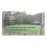 Jardín pacífico plantilla de tarjeta personal