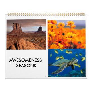 Jardín, paisaje del desierto, tortuga de mar calendario