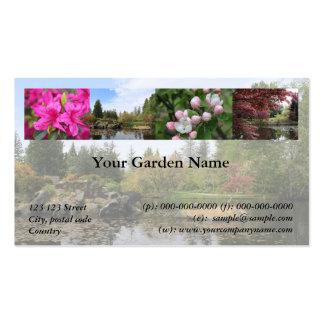 Jardín, parque, tarjeta de visita de la