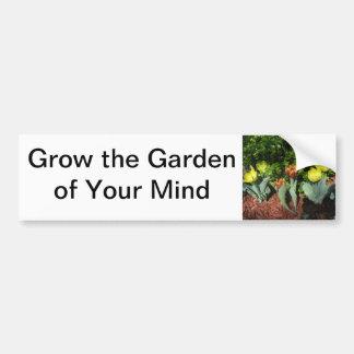 """""""Jardín pegatina para el parachoques de su mente"""" Pegatina Para Auto"""