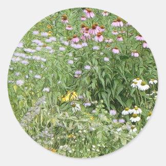 Jardín perenne etiqueta