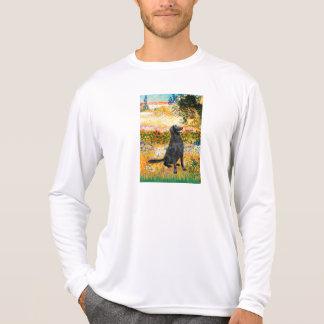 Jardín - perro perdiguero revestido plano camiseta