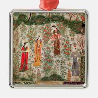 Jardín persa, siglo XV (w/c en el papel) Ornamentos De Navidad