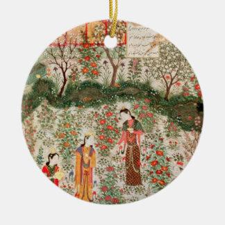 Jardín persa, siglo XV (w/c en el papel) Ornamente De Reyes