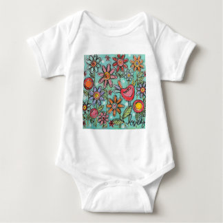 Jardín precioso body para bebé