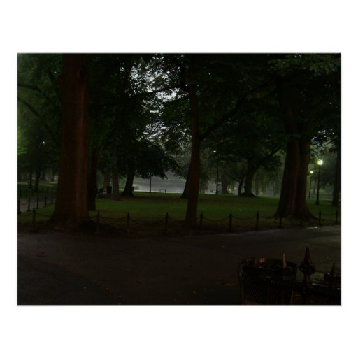 jardín público común de Boston Impresiones
