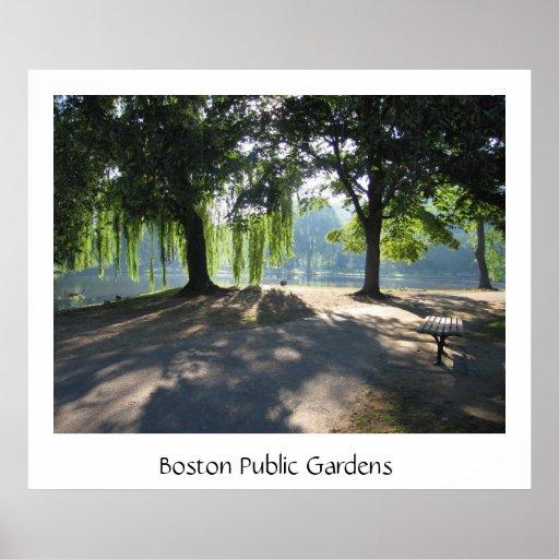 Jardín público de Boston Posters
