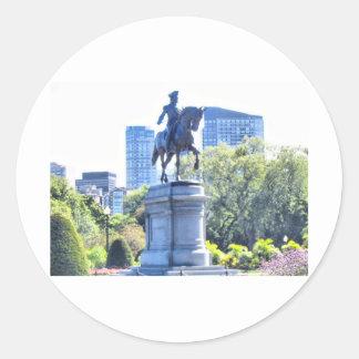 Jardín público de Boston Pegatina Redonda