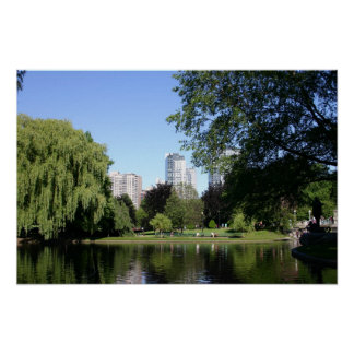 Jardín público de Boston Póster