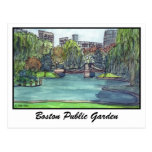 Jardín público de Boston Tarjeta Postal