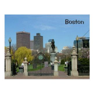Jardín público tarjeta postal
