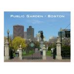 Jardín público tarjetas postales