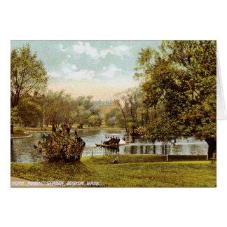 Jardín público, vintage 1909 de Boston Tarjeta De Felicitación