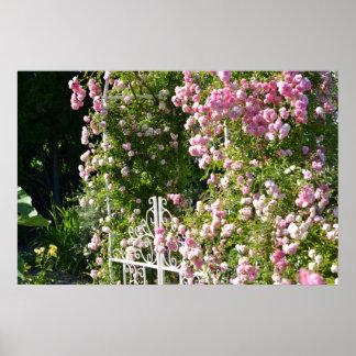 Jardín romántico posters