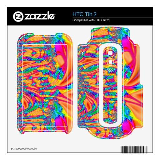 jardín rosado anaranjado del fractal calcomanía para el HTC tilt 2