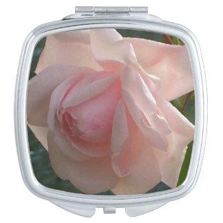 Jardín rosado bonito del espejo cosmético subió espejos para el bolso