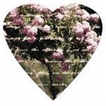 Jardín rosado dulce del corazón de los rosas esculturas fotograficas