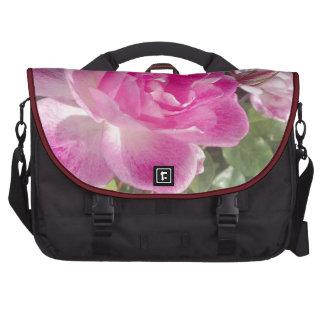 Jardín rosado subió bolsas para portátil