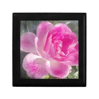 Jardín rosado subió cajas de joyas