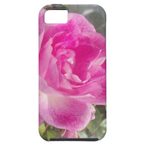 Jardín rosado subió funda para iPhone 5 tough