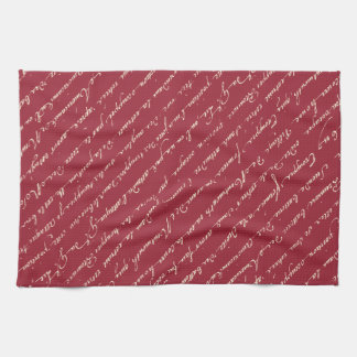 Jardin Rose Charles Lefebvre Handwriting Towel
