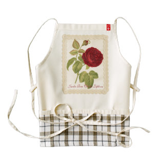 Jardin Rose Charles Lefebvre Zazzle HEART Apron