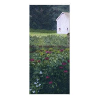 Jardín rústico diseño de tarjeta publicitaria