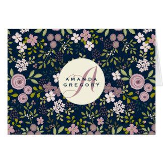 Jardín salvaje Notecard personalizado floral Tarjeta Pequeña