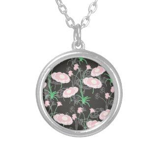 Jardín secreto #4 collar plateado