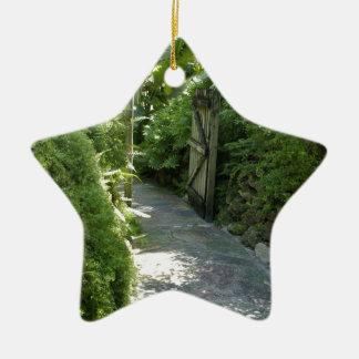 Jardín secreto adorno de cerámica en forma de estrella