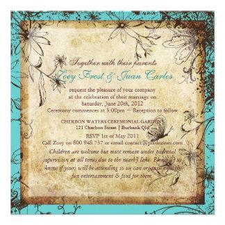Jardín secreto del vintage de PixDezines boda de Invitaciones Personales