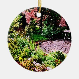 Jardín secreto en Cambridge Adorno Redondo De Cerámica