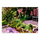 Jardín secreto en Cambridge Tarjeta Pequeña