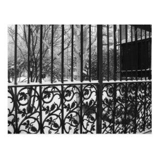 Jardín secreto lado oeste superior New York City Tarjetas Postales