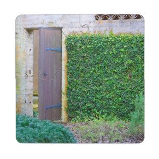 Jardín secreto posavasos de puzzle