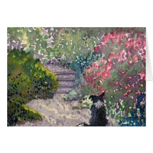 Jardín secreto tarjeta de felicitación