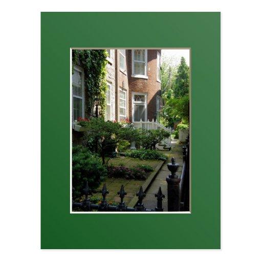 Jardín secreto tarjeta postal