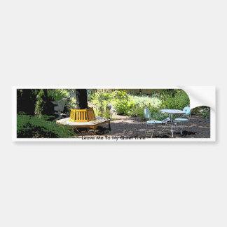 Jardín sereno y pacífico etiqueta de parachoque